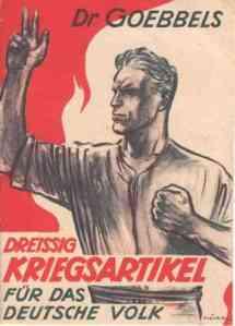 """""""Treinta puntos de guerra para el pueblo alemán."""""""