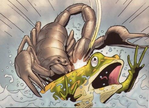 El escorpión y la rana